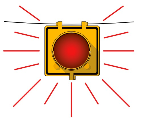 Good When Approaching A Flashing Red Light You Must Stop, But You May Then  Proceed When It Is Safe. Good Looking