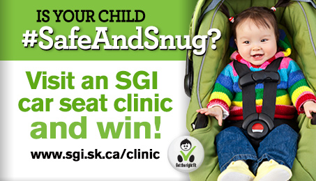 Is your child #SafeAndSnug? Visit an SGI car seat clinic and win!