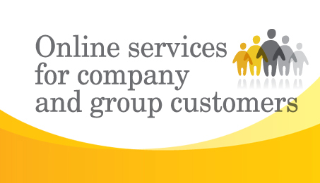Online services for company and group customers.