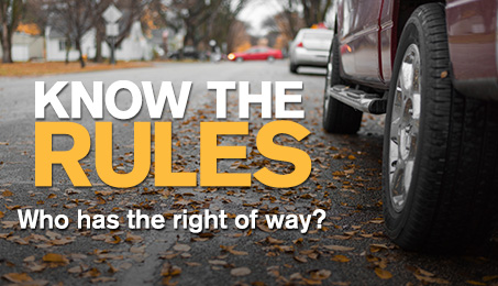 Know the rules. Who has the righ of way?