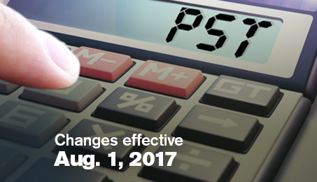 Changes effective Aug. 1, 2017.