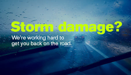 Storm damage? We're working hard to get you back on the road.
