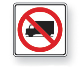 No heavy trucks