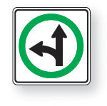 Go straight or turn left
