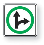 Go straight or turn right