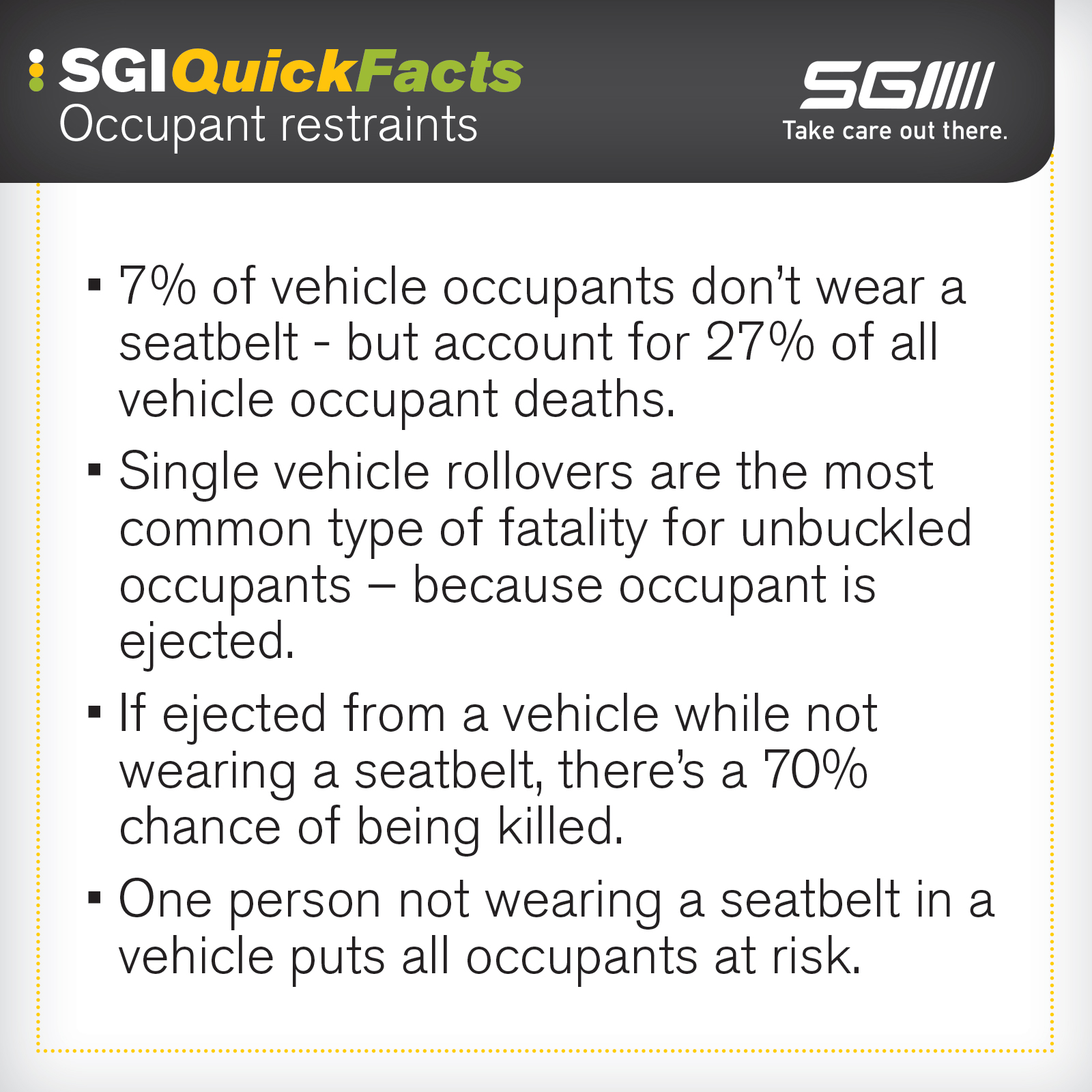 Distracted driving quick facts