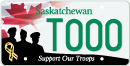 Motorcycle Support Our Troops licence plate