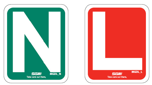 N and L placards
