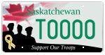Support Our Troops licence plate